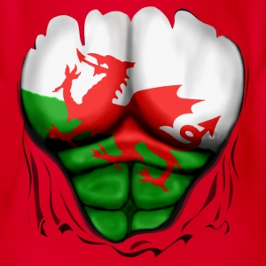 Wales Flag Ripped Muscles, six pack, chest t-shirt - Organic Short-sleeved Baby Bodysuit