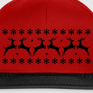 Rouge pull avec renne T-shirts - Casquette snapback