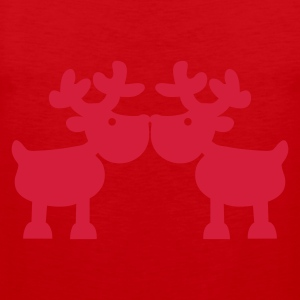 Red reindeer - elk Men's T-Shirts - Men's Premium Tank Top