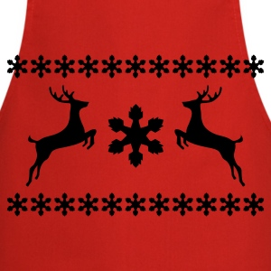 Red XMas Pullover Reindeer Kids' Shirts - Cooking Apron