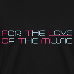 Czarny For The Love of The Music Bluzy - Koszulka męska Premium