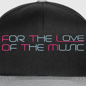 Black For The Love of The Music Hoodies & Sweatshirts - Snapback Cap