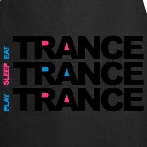 Noir Eat Sleep Play Trance Sweatshirts - Tablier de cuisine