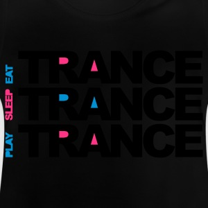 Sort Eat Sleep Play Trance Børne T-shirts - Baby T-shirt