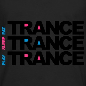 Black Eat Sleep Play Trance Kids' Shirts - Men's Premium Longsleeve Shirt