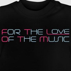 Marinblå For The Love of The Music Barntröjor - Baby-T-shirt