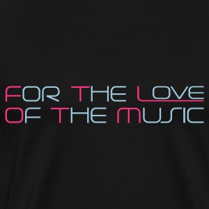 Navy For The Love of The Music Kinder Pullover - Männer Premium T-Shirt