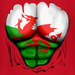 Wales Flag Ripped Muscles, six pack, chest t-shirt - Baby Long Sleeve T-Shirt