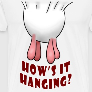White/black How's it Hanging? Long sleeve shirts - Men's Premium T-Shirt