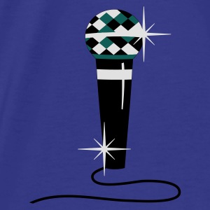 Purple Diamond microphone Bags  - Men's Premium T-Shirt