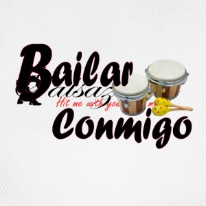 White/navy bailar_conmigo45 Men's T-Shirts - Baseball Cap