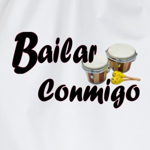 White/black bailar_conmigo45 Long sleeve shirts - Drawstring Bag
