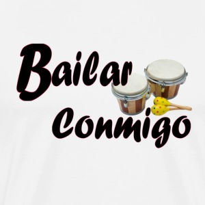 White/black bailar_conmigo45 Long sleeve shirts - Men's Premium T-Shirt
