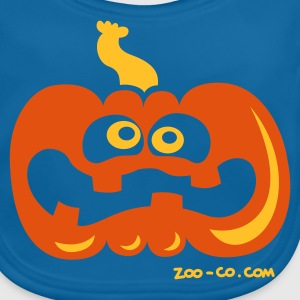 Navy Scared Pumpkin Kids' Shirts - Baby Organic Bib
