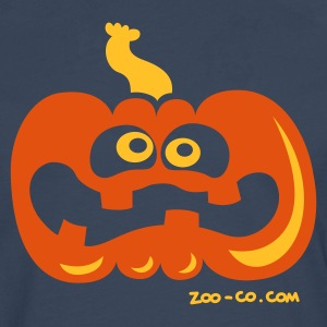 Navy Scared Pumpkin Kids' Shirts - Men's Premium Longsleeve Shirt