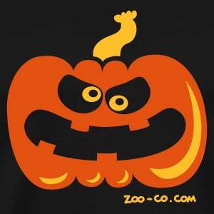 Navy Angry Pumpkin Kids' Tops - Men's Premium T-Shirt