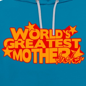 Pfauenblau WORLD'S GREATEST MOTHERFUCKER T-Shirts - Kontrast-Hoodie
