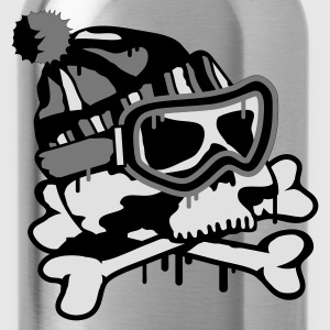 Lilac Snowboard Skull  Umbrellas - Water Bottle