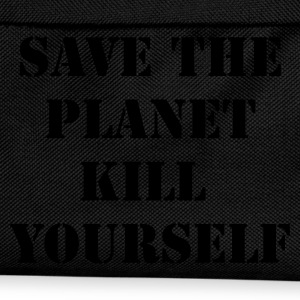 Zwart/wit save the planet kill yourself T-shirts - Rugzak voor kinderen