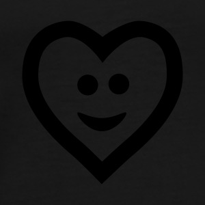 Zwart Heart with smile Petten & Mutsen - Mannen Premium T-shirt