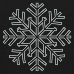 Black/white Snowflake 1 Coats & Jackets - Men's Premium T-Shirt