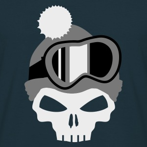Navy Snowboard Skull with snowboard goggles Hoodies & Sweatshirts - Men's T-Shirt