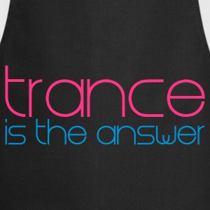 Svart Trance is the Answer T-shirts - Förkläde