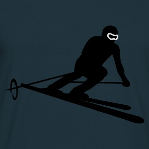 Navy ski_slalom Hoodies & Sweatshirts - Men's T-Shirt