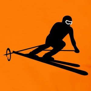 Brown ski_slalom Hoodies & Sweatshirts - Men's Ringer Shirt