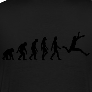 Schwarz Evolution of Jumping (1c) Poloshirts - Männer Premium T-Shirt
