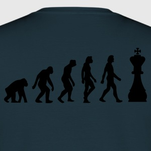 Navy Evolution of Chess 1 (1c) Hoodies & Sweatshirts - Men's T-Shirt