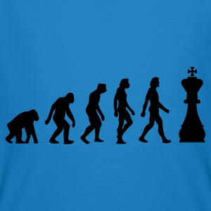 Pauwblauw Evolution of Chess 1 (1c) Tassen - Mannen Bio-T-shirt