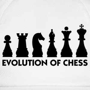 Hvit Evolution of Chess 2 (1c) T-skjorter - Baseballcap