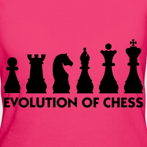 Evolution of Chess 2 (1c) Tassen - Vrouwen Bio-T-shirt