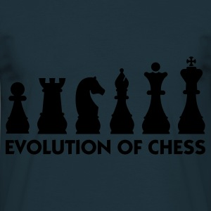 Navy Evolution of Chess 2 (1c) Schürzen - Männer T-Shirt