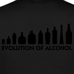 Schwarz Evolution of Alcohol 1 (1c) Pullover - Männer Premium T-Shirt
