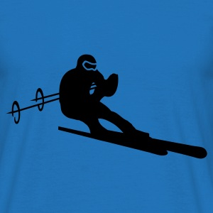 Green Downhill Skiing Hoodies & Sweatshirts - Men's T-Shirt