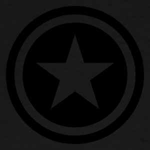 Black/white star single blackcircle Bags  - Men's Premium T-Shirt