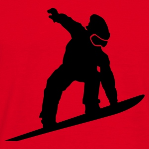 Red Snowboarder Silhouette Hoodies & Sweatshirts - Men's T-Shirt