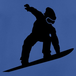 Blue/blue Snowboarder Silhouette Caps & Hats - Men's Breathable T-Shirt