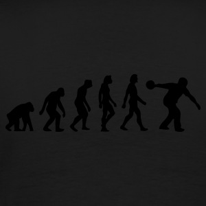 Black Evolution of Bowling (1c) Polo Shirts - Men's Premium T-Shirt