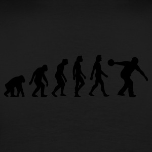 Black Evolution of Bowling (1c) Hoodies & Sweatshirts - Men's Premium T-Shirt