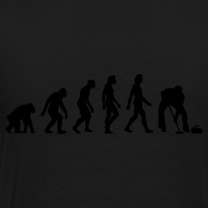 Zwart Evolution of Curling (1c) Sweaters - Mannen Premium T-shirt