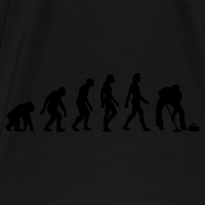 Zwart/wit Evolution of Curling (1c) Tassen - Mannen Premium T-shirt