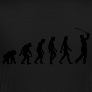 Black Evolution of Golf (1c) Polo Shirts - Men's Premium T-Shirt