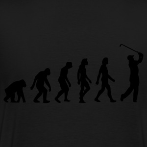 Schwarz Evolution of Golf (1c) Pullover - Männer Premium T-Shirt