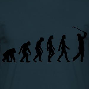 Navy Evolution of Golf (1c)  Aprons - Men's T-Shirt