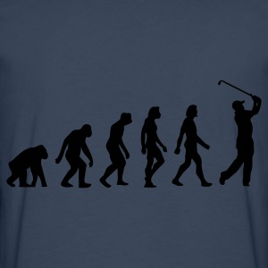 Marineblå Evolution of Golf (1c) Forklæder - Herre premium T-shirt med lange ærmer