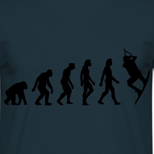 Navy Evolution of Kite Surfing (1c) Schürzen - Männer T-Shirt