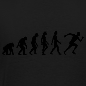 Schwarz Evolution of Running (1c) Pullover - Männer Premium T-Shirt
